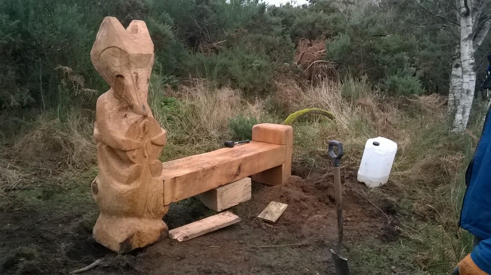 Inverness bench totem project owen pilgrim storyteller and